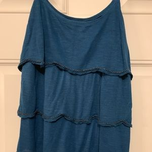 American Eagle Embellished Beaded Tank in Small